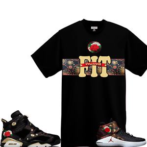 WeWillFit shirt to match Air Jordan 6 Retro VI CNY Chinese New Year     Image is loading WeWillFit shirt to match Air Jordan 6 Retro