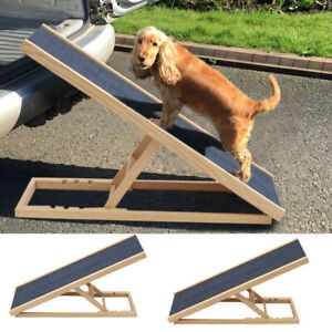 26 40 Long Adjustable Pet Ramp Anti Slip Wooden Dog Couch Bed Car | Dog Slipping On Wood Stairs | Steps | Hardwood Floors | Self Adhering | Hardwood | Puppy Treads