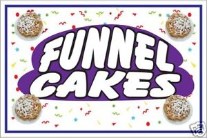 Carnival Food Sign- Funnel Cakes 1 Decal Graphic   eBay