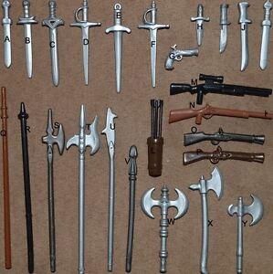 U CHOOSE Playmobil castle knights Weapons Gun, Ax Sword ...
