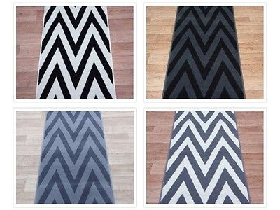 Hall Stairs Zigzag Carpet Runner Any Size X 60Cm 4 Colours | Zig Zag Carpet On Stairs | American Style | Asymmetric Stair | Before And After | Navy Pattern | Grey