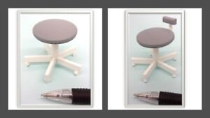 1 12 dolls house miniature modern dental stools 2 to choose from     Image is loading 1 12 dolls house miniature modern dental stools