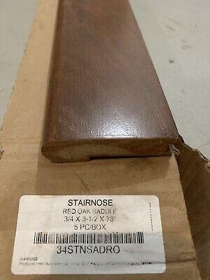 Hickory Dusk 81 Thick X 3 Wide X 78 Length Hardwood Stair Nose | Bruce Hardwood Stair Treads | Red Oak | Wood Flooring | Nose Molding | Gunstock Oak | Plywood