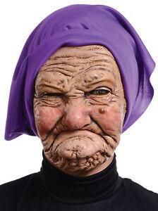 Granny Latex Mask Adult Old Lady Wrinkled Grandma Ugly ...