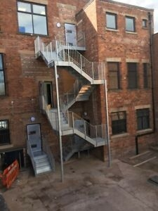 Galvanised Steel Staircase Fire Escape 8 Flights Ebay   Steel Fire Escape Stairs   Architectural   Internal   Industrial   Emergency   Fire Exit