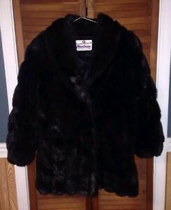 MONTEREY FASHIONS Faux Lined Fur Coat Women s Size 12 Black   eBay Image is loading MONTEREY FASHIONS Faux Lined Fur Coat Women 039