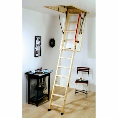 Youngman Eco S Line Wooden Timber Folding Loft Ladder Hatch Frame   Folding Loft Stairs With Handrail   Circle Stair   Design   Limited Space   Stairway Osha   Semi Automatic