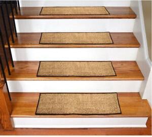 Non Slip Stair Rugs Carpet Stair Treads Pack Of 7 Brown Ebay   Designer Carpet Stair Treads   Stair Runner   Non Slip   Oak Valley Designs   Flooring   Wood Grain