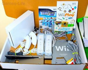 Wii Console Nintendo White 2 Remotes 2 Nunchucks 24 Games Wii Sports     Image is loading Wii Console Nintendo White 2 Remotes 2 Nunchucks