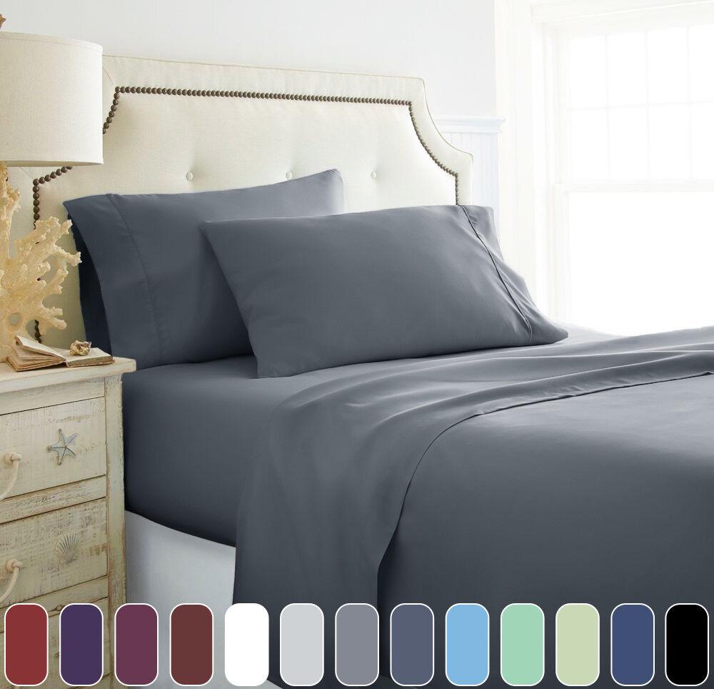 1000TC Comfort Extra Soft Bed Sheet Set Deep Pocket Sheets ...