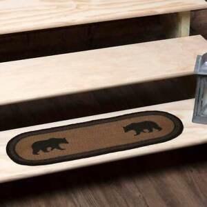 Jute Stair Tread Rug Carpet Rustic Flooring Vhc Wyatt Bear Nature | Rustic Carpet Stair Treads | Wood | Mat | Non Slip | Wool | Overstock