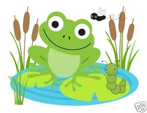 Frog Wall Mural Decals Baby Girl Boy Nursery Kids ...