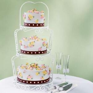Wilton Graceful Tiers Cake Stand  Wedding Cake Stand  3 Tier     Image is loading Wilton Graceful Tiers Cake Stand Wedding Cake Stand
