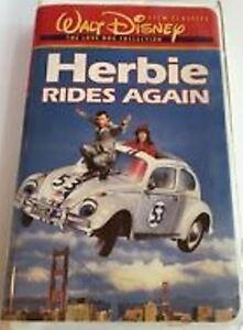 RARE- DISNEY'S- Herbie Rides Again (VHS) CLAMSHELL- KEN ...