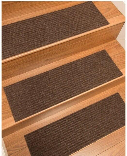 Set Of 13 Natural Area Rugs Beach Indoor Seagrass Fiber Stair | Natural Area Rugs Stair Treads | Non Slip | Malvern | Slip Resistant | Polypropylene Carpet | Beige