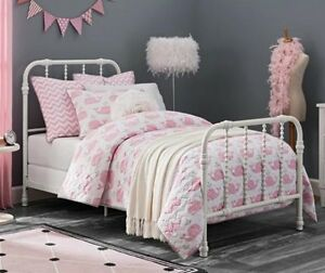 New Twin White Antique Country Style Metal Beds Bed Jenny