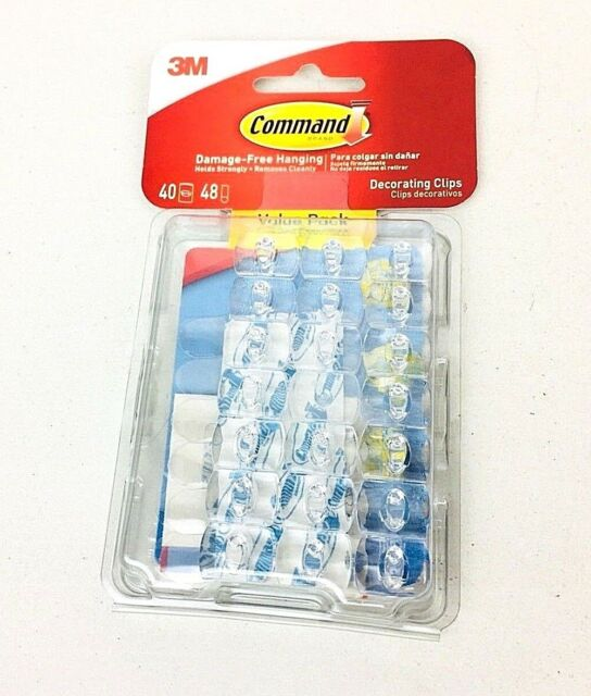Command 17026clrvpes Decorating Clip Clear 40 Clips   48 Strips   eBay 3M Command Clear Decorating Clips Value Pack 40 Clips 48 Strips Free  shipping