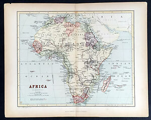 Details about 1860 W R Chambers Antique Map of Africa Image is loading 1860 W R Chambers Antique Map of Africa