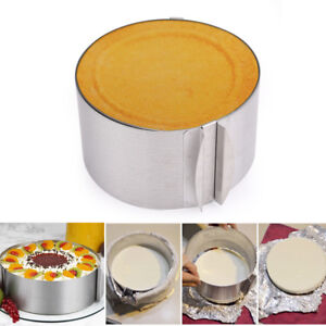 Round Cake Mousse Baking Mold Ring Mould Cutter Pastry ...