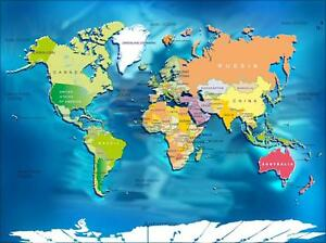 WORLD MAP W  COUNTRIES GLOSSY POSTER PICTURE PHOTO maps globe     Image is loading WORLD MAP W COUNTRIES GLOSSY POSTER PICTURE PHOTO
