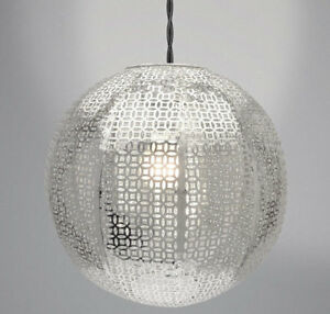 Moroccan Style Metal Round Ball Ceiling Light Shade Chandelier     Image is loading Moroccan Style Metal Round Ball Ceiling Light Shade