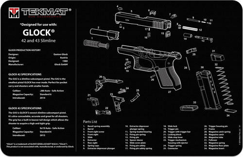 Buy Tekmat Armorers Bench Mat Glock 42 And 43 Online Ebay