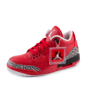 Mens Air Jordan 3 Retro  Grateful  Promo Sample University Red Black     Image is loading Mens Air Jordan 3 Retro 034 Grateful 034