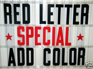 8 Outdoor Portable Marquee Sign Letters Red Special 320 count set   eBay Image is loading 8 Outdoor Portable Marquee Sign Letters Red Special