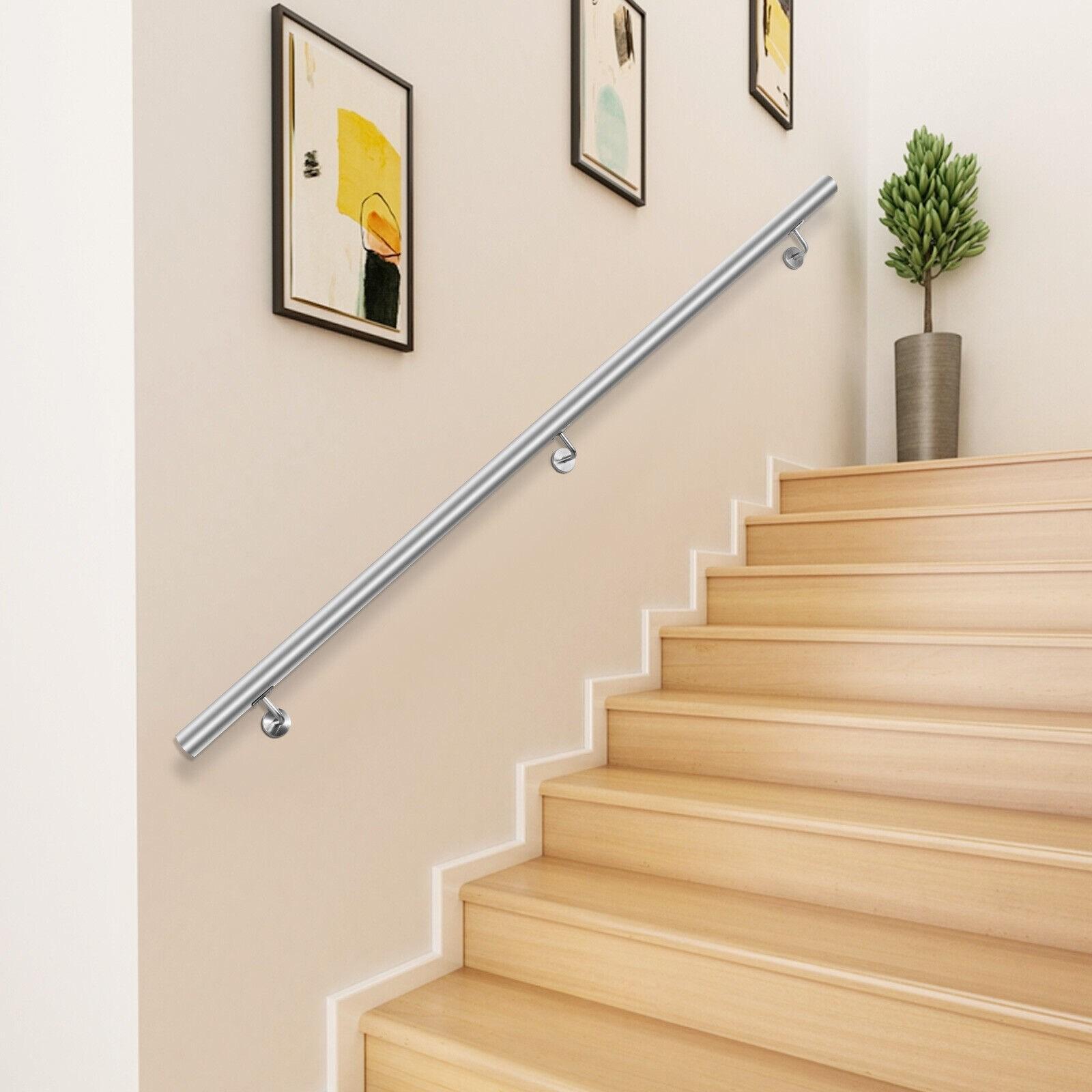 Stair Handrail Stair Rail 3Ft Stainless Steel Handrails For Stairs | Steel Handrails For Steps | Baluster | Aluminum | Steel Tube | Price | Designing