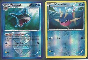 2 EVOLUTION POKEMON- SHARPEDO & CARVANHA - PLASMA STORM ...