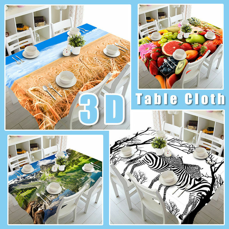 3D rot Balls Tablecloth Table Table Table Cover Cloth Birthday Party