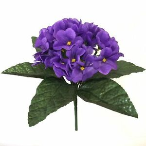 23cm Artificial African Violet Plant   Purple Spring and Summer     Image is loading 23cm Artificial African Violet Plant Purple Spring and