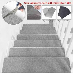 4Pcs Set Floor Rug Carpet For Stairway Anti Slip Stair Mats Self | Stairway To Darkness Rug | Area | Tardis | 3 Dimensional | Floor | Scary