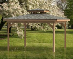 16 X 16 Double Hip Roof Gazebo Building Plans Perfect