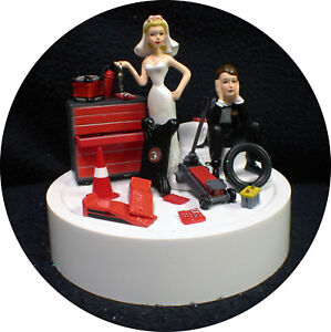 Car AUTO MECHANIC Wedding Cake Topper Groom top Tool Nascar racing     Image is loading Car AUTO MECHANIC Wedding Cake Topper Groom top