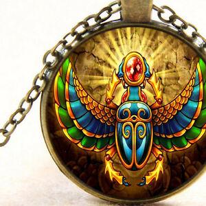 New Egyptian Scarab Beetle Pendant Necklace Jewellery
