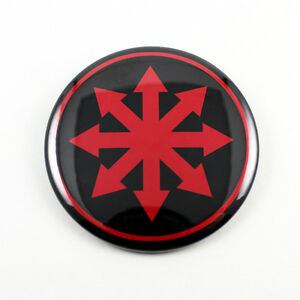 CHAOS Star 2 1/4 Inch Button Red/Black - Moorcock GWAR ...