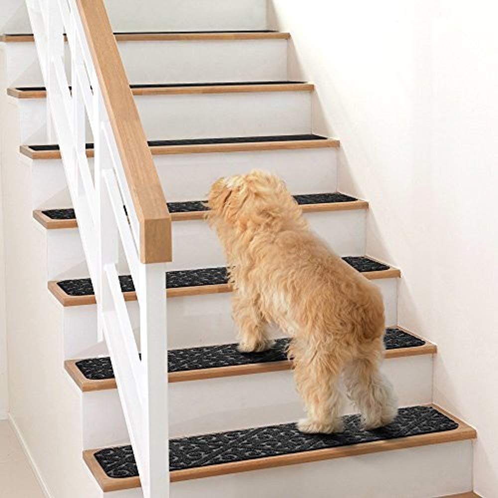 Elogio Carpet Stair Treads Set Of 13 Non Slip Skid Rubber Runner   Elogio Carpet Stair Treads   Carpet Runners   Carpet Flooring   Skid Rubber   Pet Dog   Skid Resistant