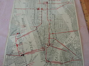 VINTAGE 1910 NEW YORK CITY Hotel Bristol NYC Subway Map Tourism     Image is loading VINTAGE 1910 NEW YORK CITY Hotel Bristol NYC