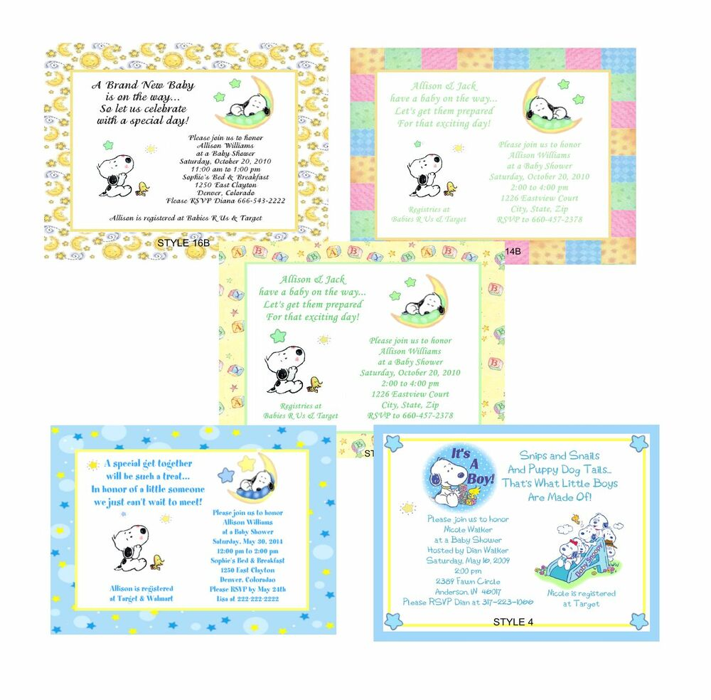 Cute Baby Shower Announcements
