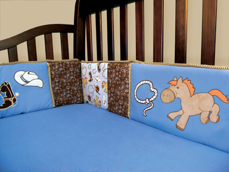 Trend Lab Cowboy Baby Crib Bumpers 106734 Crib Bedding