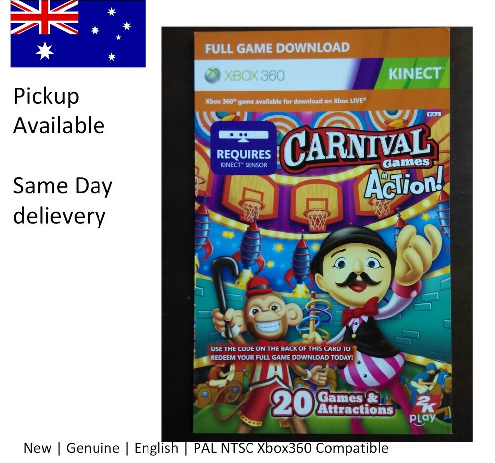 Xbox 360 game : Kinect carnival in action Full Game ...