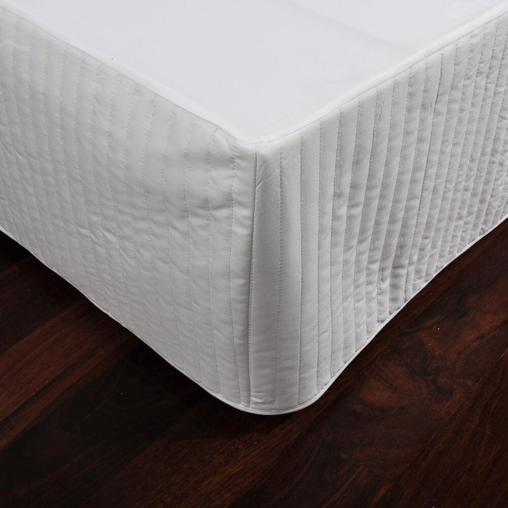 6 Colours Ardor Channel Quilted Valance Bed Skirt