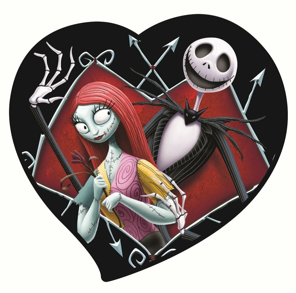 Disney Nightmare Before Christmas Jack and Sally in Heart ...