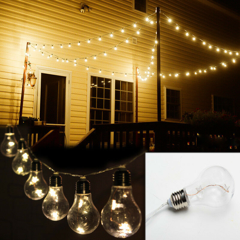 Outdoor Lights String Powered Battery