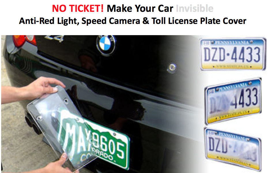 Red Light Camera Out State Plates