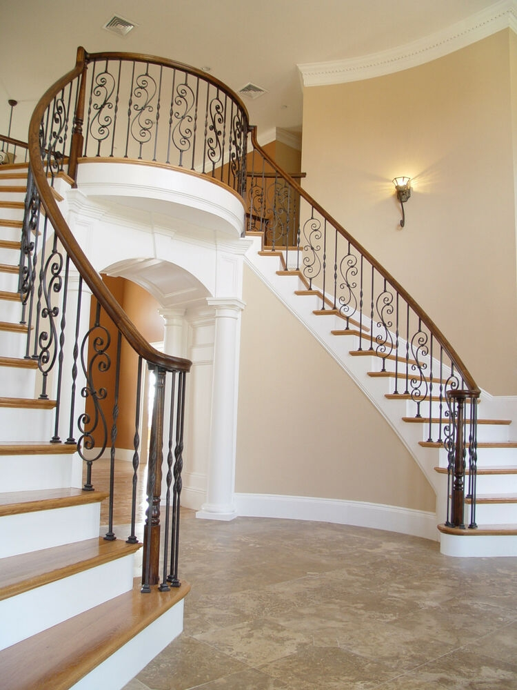 Fitts Stair Parts Wrought Iron Balusters Options Avail Ebay | Rot Iron Stair Railing
