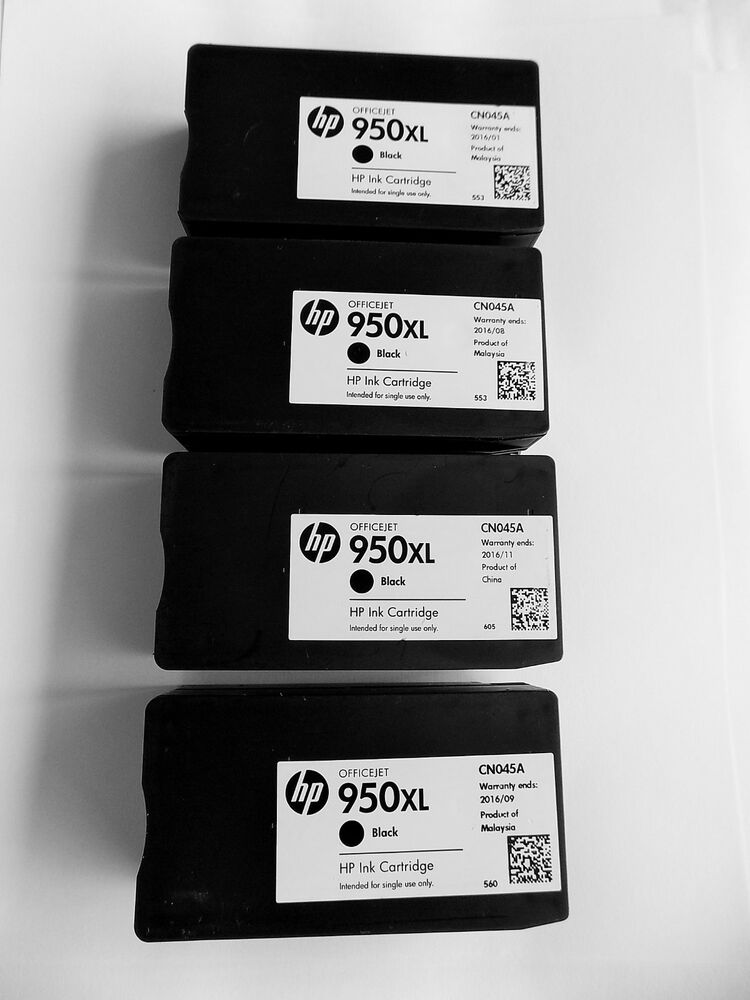 4 Original Hp Empty Ink Cartridges Hp 950xl 950 For