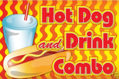 Carnival Food Sign- Hot Dog and Drink Decal Graphic   eBay