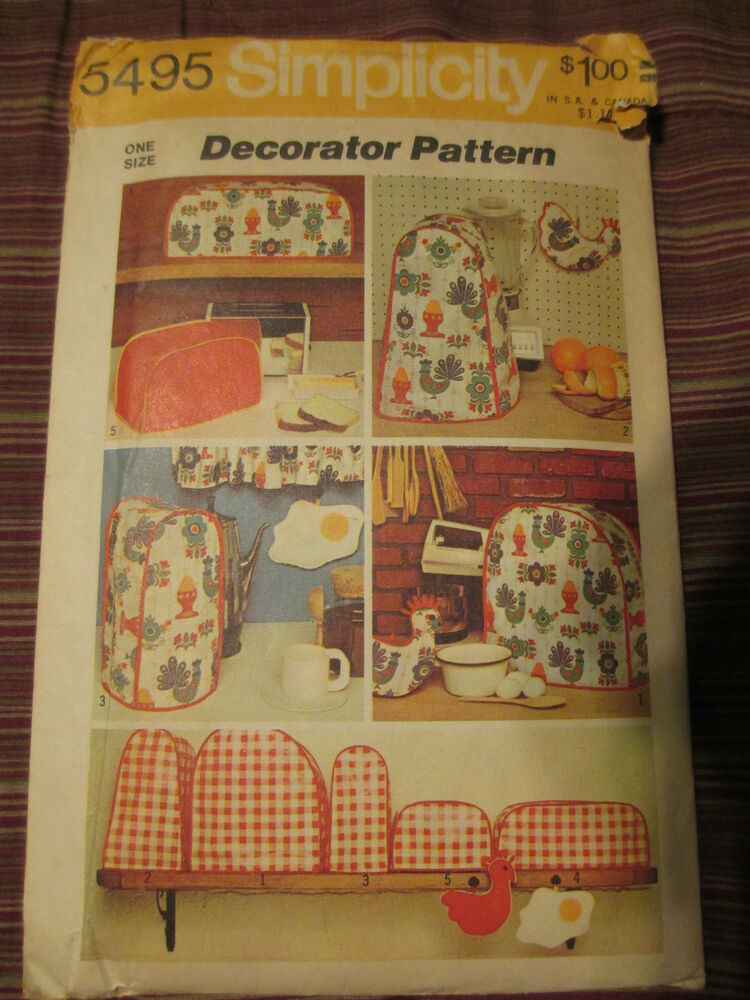Vntg Simplicity Small Kitchen Appliance Cover Pattern